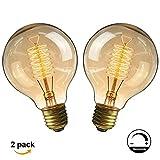 Ampoule E27 Vintage,Fil Lampe Rétro Antique 220-240V Grosse Ampoule 40W...