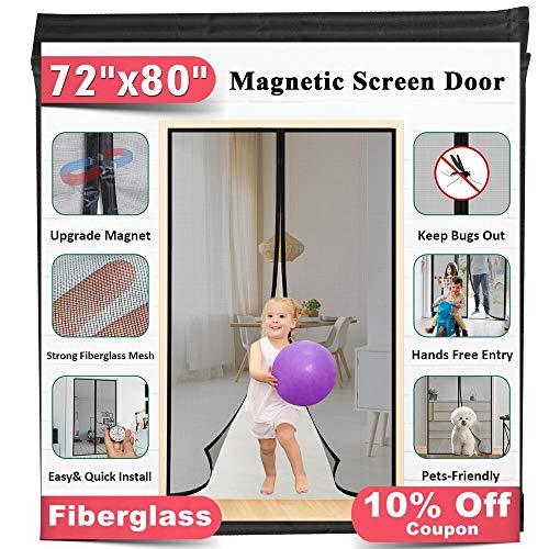 Upgrade Fiberglass Magnetic Screen Door,...