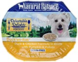 Natural Balance Delectable Delights Wet Dog Food, Duck'En-Itas Duck & Chicken Formula, 2.75 Ounce Cup (Pack of 24), Grain Free