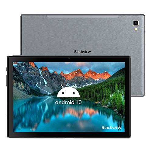 Blackview Tab8 Tablet 4G LTE 10.1Pollici FHD, Android 10, 4GB RAM + 64GB ROM (TF 128GB), Octa-Core, Batteria 6580mAh, Fotocamera 13MP, 1920 * 1200, Dual SIM, Bluetooth, GPS, Face ID, OTG, Grigio