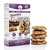 Lactation Cookie Mix USDA Organic & KOSHER Certified with Organic Galactagogues for Lactation Support. Ideal for Breastmilk Supply Increase (OATMEAL - BLUEBERRY - CHOCOLATE CHIP)