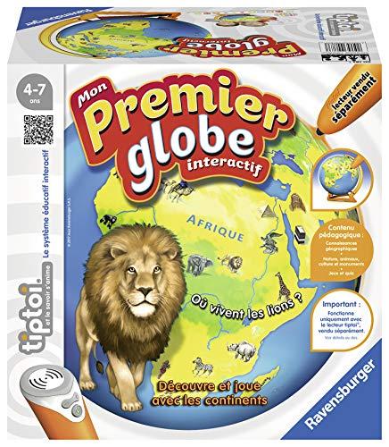 Ravensburger - Jeu électronique interactif tiptoi® - Mon Premier Globe interactif - Jeux électroniques éducatifs sans écran et en français - Enfants à partir de 4 ans - 00783