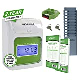 uPunch Starter Time Clock Bundle with 100-Cards, 1 Time Card Rack, 1 Ribbon & 2 Keys (HN1500)