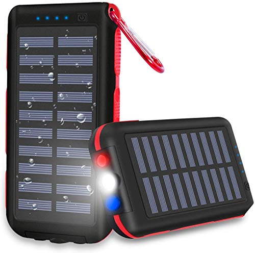 CXLiy Powerbank Solare Caricabatterie Solare Portatile 25000 mAh Grande capacit Resistente all'Acqua...