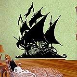 Dibujos animados barco pirata vinilo pegatinas de pared barco pirata ron Baojin isla baloncesto superestrella
