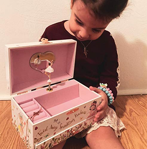 Product Image 4: The Memory Building Company Musical Ballerina Jewelry Box for Girls & Little Girls Jewelry Set - 3 Dancer Gifts for Girls…