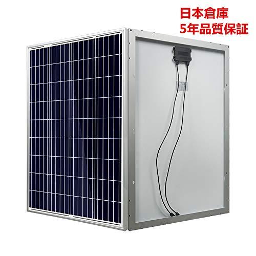 ECO-WORTHY 100W ソーラーパネル 高転換率 モジュール 12V バッテリーチャージー RV ボート ホーム用 L02P100N-1