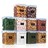 Airtight Food Storage Containers with Lids 10pcs Set 2.5L / 2.3Qt, PantryStar Air Tight Flour and Sugar Container for Pantry Organization, BPA Free Kitchen Containers for Dry Food and Baking Supplies