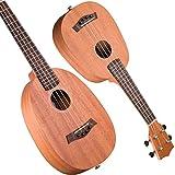 LINGZHIGAN 27 Pulgadas de 30 Pulgadas de Ukelele de Caoba Guitarra pequeña Tipo de piña en un Regalo de graduación Principiante (Tamaño : 27 Inch)