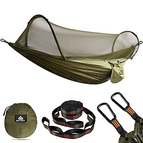 NATUREFUN Hamac de Voyage Ultra-léger Camping avec moustiquaire| 300 kg de...