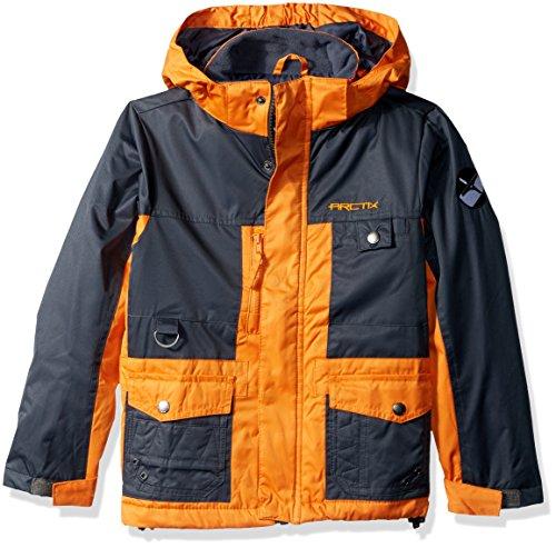 Arctix Boys Edge Insulated Winter Jacket, Burnt Orange, Large