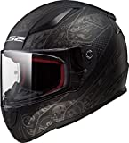 LS2 Helmets Rapid Crypt Graphic unisex-adult full-face-helmet-style Full Face Helmet (Matte Black,XX-Large),1 Pack - 353-1106