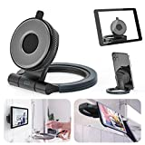 Kitchen Tablet Wall Mount Adjustable Tablet Stand & Phone Holder for Kitchen, Counter & Wall NO Drilling Bracket with Strong Suction Cup for iPhone/iPad, All Tablet & Phone