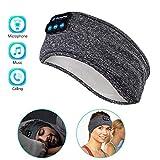 Sleep Headphones Wireless, Perytong Bluetooth Sports Headband Headphones with Ultra-Thin HD Stereo Speakers Perfect for Sleeping,Workout,Jogging,Yoga,Insomnia, Air Travel, Meditation, Grey