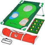 GoSports BattleChip Backyard Golf Cornhole Game, Includes Chipping Target, 16 Foam Balls, Hitting Mat and Carrying Case