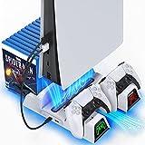 OIVO Support PS5 avec Ventilateur de Refroidissement pour Playstation 5,...