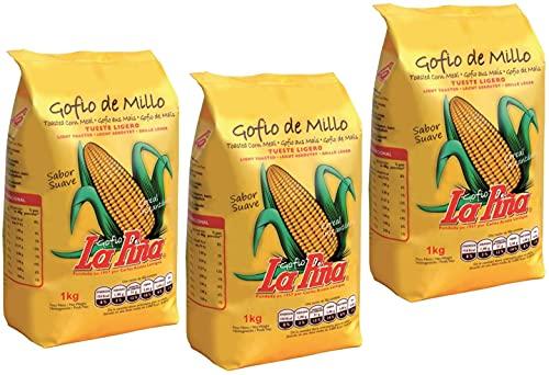 Gofio de Maiz Bio   Millo   Ecológico   Caja de 3 x 500g (T