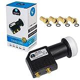 LNB LNC Full HD TV 3D + Contacts or + kit de protection (extensible) en HB DIGITAL. Kit avec prise F dorée offerte