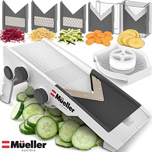 Mueller Austria Premium Quality V-Pro Multi Blade Adjustable Mandoline Cheese/Vegetable Slicer