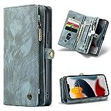 分離式 iPhone 13 Pro Max ウォレットケース 財布型 上品なマット感 スマホカバー つや消し 小……