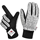 MOREOK Winter Gloves, -20°F 3M Thinsulate Bike Gloves Cold Weather Gloves for Running/Driving/Cycling /Hiking/Working-M