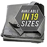 Tarp Cover 10X20 Silver/Black 2-Pack Heavy Duty Thick Material, Waterproof, Great for Tarpaulin Canopy Tent, Boat, RV Or Pool Cover!!