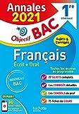 Annales Bac 2021 Français 1ères