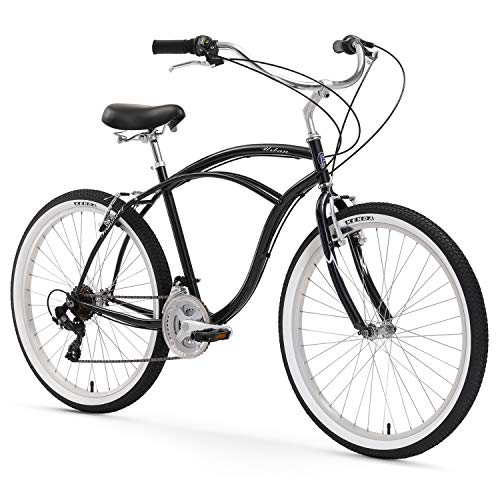 Firmstrong Urban Man Beach Cruiser Bike, Mens Bicycle 24-Inch, 1-Speed, Black
