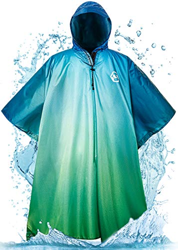 Foxelli Hooded Rain Poncho