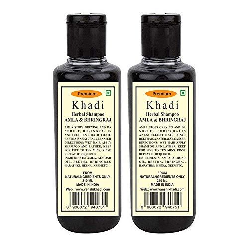 Premium Khadi Herbal Amla & Bhringraj Shampoo 210 Ml ( Pack Of 2 )