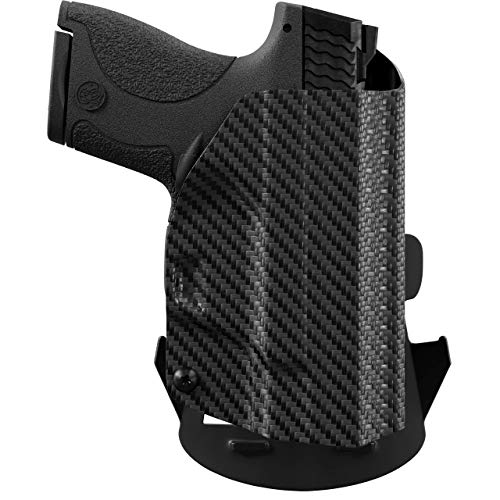 We The People Holsters - Carbon Fiber - Right Hand Outside Waistband Concealed Carry Kydex OWB Holster Compatible with Springfield Hellcat 3' Micro-Compact 9mm