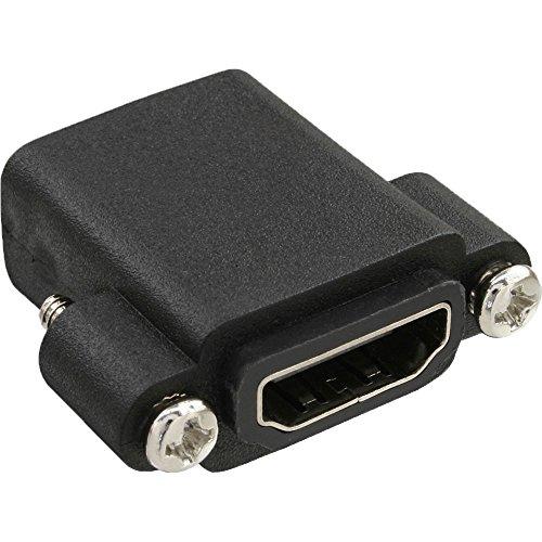 InLine 17600O HDMI Adapter zum Einbau mit Gewinde, HDMI A Buchse/Buchse, 4K2K kompatibel