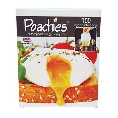 Poachies sacchetti per preparare le uova in camicia, dimensioni: 17 cm x 13,5 cm x 3 cm, confezione da 100