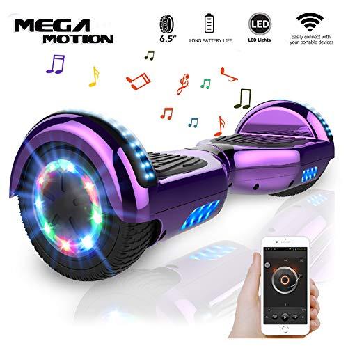 "Mega Motion Self Balance Scooter 6,5\"" - 2018 Elektro Scooter E-Skateboard - Scooter - UL zertifizierten 2272 LED - Räder mit LED Licht -Bluetooth Lautsprecher – 700W Motor"