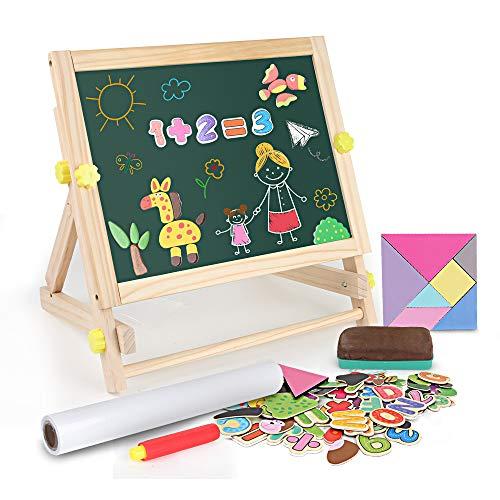 BeebeeRun 3 in 1 Lavagna per Bambini 3 Anni ,Cavalletto per Bambini con Lettere e Numeri...