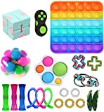 YCYC Fidget Toy Packs, Set di Giocattoli Sensoriali Economici Fidget Pack con Simple Dimple Pop Bubble Infinite Cube Sfera Antistress e Antistress Giocattolo Antistress (22 Pezzi F)
