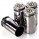 40 Caliber Valve STEM CAPS |Once Fired Bullet Round | Set of 4 (Nickel) from LUCKY SHOT