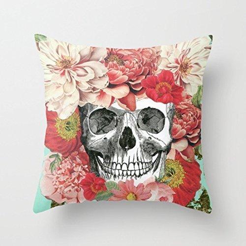 18x 18Frida Kahlo calavera manta funda de almohada fundas de almohada decorativa cojín cuadrado cubierta zopoa