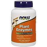 Now Foods - Plant Enzymes, Enzimas Digestivas (Proteasa, Amilasa, Lipasa, Celulasa, Lactasa, Papaína (Papaya), Bromelina (piña)) - 120 cápsulas vegetales