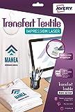 AVERY - Pochette de 15 transferts Tee-Shirt ou textiles blancs ou clairs...