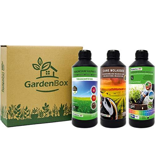 Nortembio Garden Box. Kit Orto Urbano. Riduttore di PH Biologico + Attivatore di Nutrienti + Stimolatore della Crescita. Migliori Sapore ed Aroma. Coltivi in Interno ed all'Esterno. E-Book Incluso.