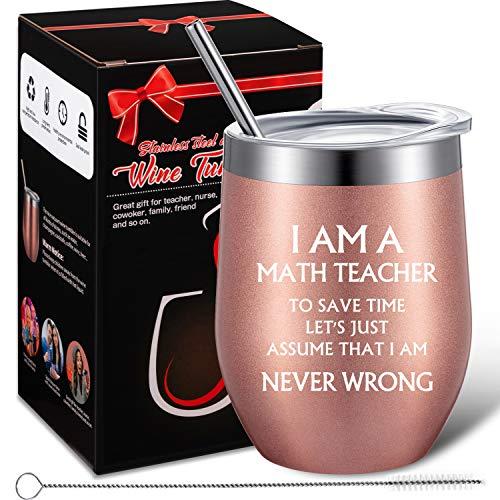 Funny Math Teacher Gift, Math Teacher Assume That I Am Never...