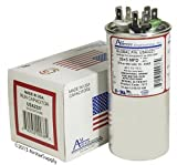 GE / Genteq Z97F9899 97F9899 - 35 + 5 uf 370 / 440 Volt Volt VAC AmRad Round Dual Run Capacitor , Made in the U.S.A.