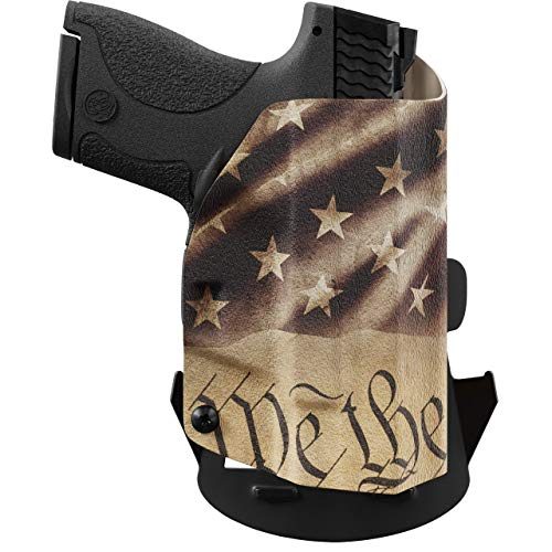 We The People - Constitution Right Hand Outside Waistband Concealed Carry Kydex OWB Holster Compatible with Taurus Millenium PT111 G2 / G2C 9MM Gun