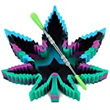X-Value Black/Blue/Purple/Green Silicone Leaf Ashtray Unbreakable Decorative Tray Colorful Holder for Outside/Indoor/Home Decor