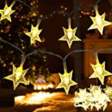 Samyoung Star String Lights,50 LED Twinkle Star,Battery Operated for Indoor & Outdoor, Party,...