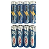 KINSUN 8-Pack Rechargeable...image