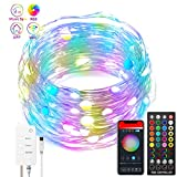 Smart 100 LED Catena Luminosa, 10M RGB Multicolore Luci Fatate LED Compatibile con Alexa e Google Home, Controllo APP Musica Sync USB WiFi LED Luci Stringa Decorazione per Festa Camera Natale