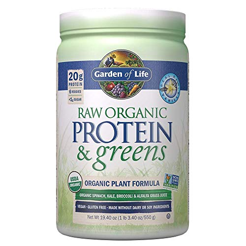 Garden of Life Raw Protein and Greens Vanilla 19.7 oz (557g)...