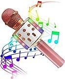SunTop Microphone Karaoké Bluetooth Sans Fil, Haut-parleur...